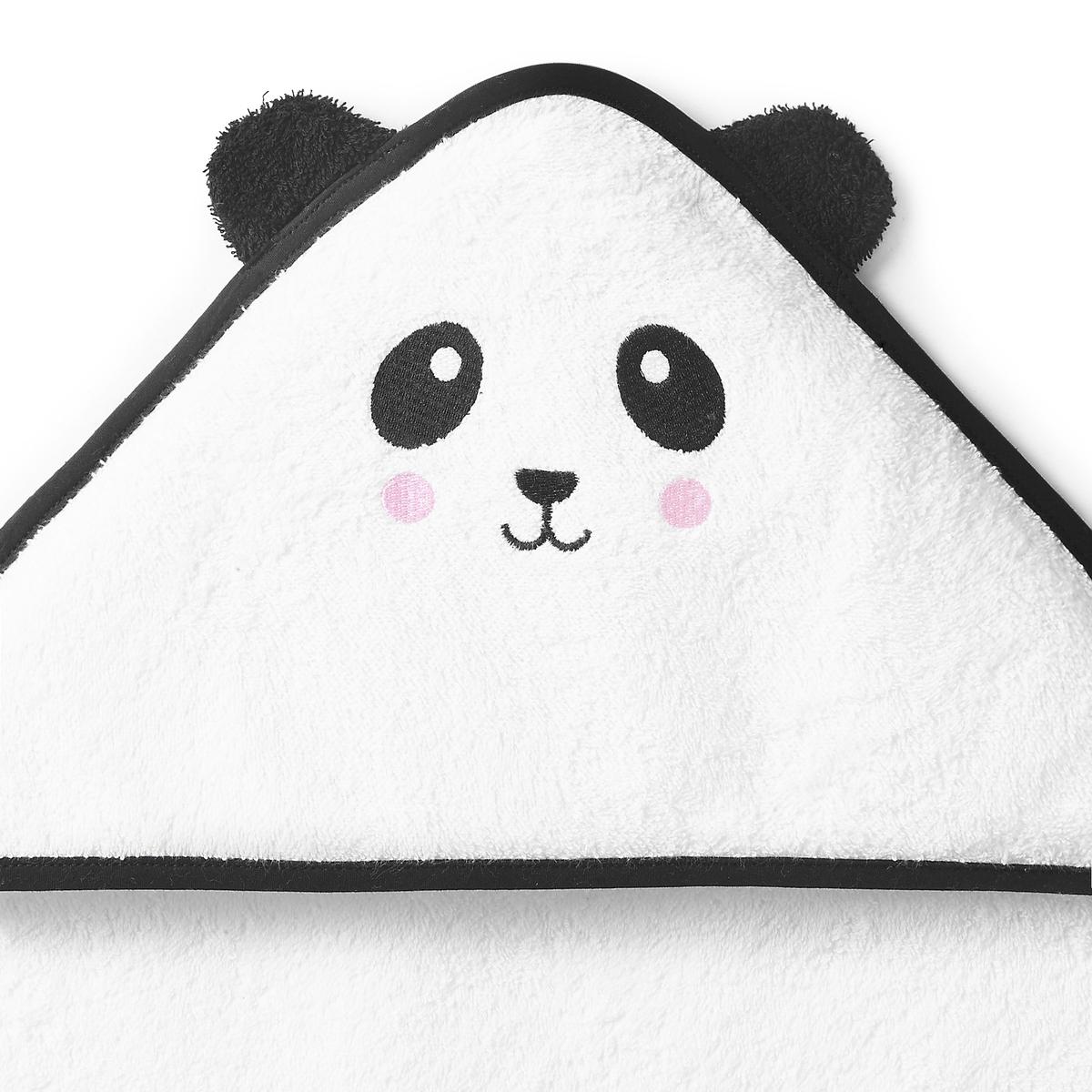 Накидка для ванной с капюшоном детская LEOОписание:Накидка для ванной с капюшоном из махровой ткани 100 % хлопок 400 г/м?, с вышивкой, маленький панда LEO. Такая хорошенькая со своими маленькими ушками, эта мягкая и пушистая накидка отлично подойдет для укутывания наших малышей! Красивая идея подарка!Характеристики накидки панда LEO:Махровая ткань 100 % хлопок 400 г/м?.Капюшон с контрастными ушками и вышивкой панда.Внутрення часть капюшона на подкладке.Отделка контрастной каймой.2 размера на выбор: 70 x 70 см - 100 x 100 см Простой уход.Машинная стирка при 60° С.Знак Oeko-Tex® гарантирует, что товары прошли проверку и были изготовлены без применения вредных для здоровья человека веществ. Найдите весь комплект махровых изделий для детей на сайте  laredoute.ru Размеры:   70 x 70 см 100 x 100 см<br><br>Цвет: белый