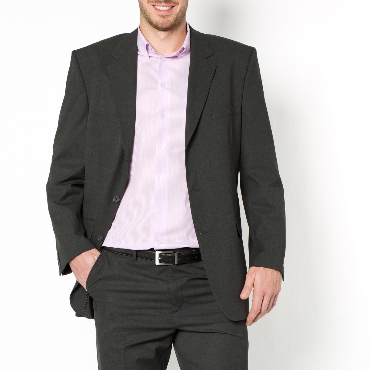 Пиджак костюмный, стрейч, размер 1Полностью на подкладке, 100% полиэстер. Размер 1 : рост до 1,76 м.Прямой покрой, 3 пуговицы. Шлица сзади. 1 нагрудный карман и 2 кармана с клапаном спереди, 3 внутренних кармана. 3 пуговицы на рукавах. Контрастная отделка видимым швом.Существует также в размере 2 (на рост от 176 до 187 см)и в размере 3 (на рост от 187 см).<br><br>Цвет: антрацит,темно-синий<br>Размер: 58.54