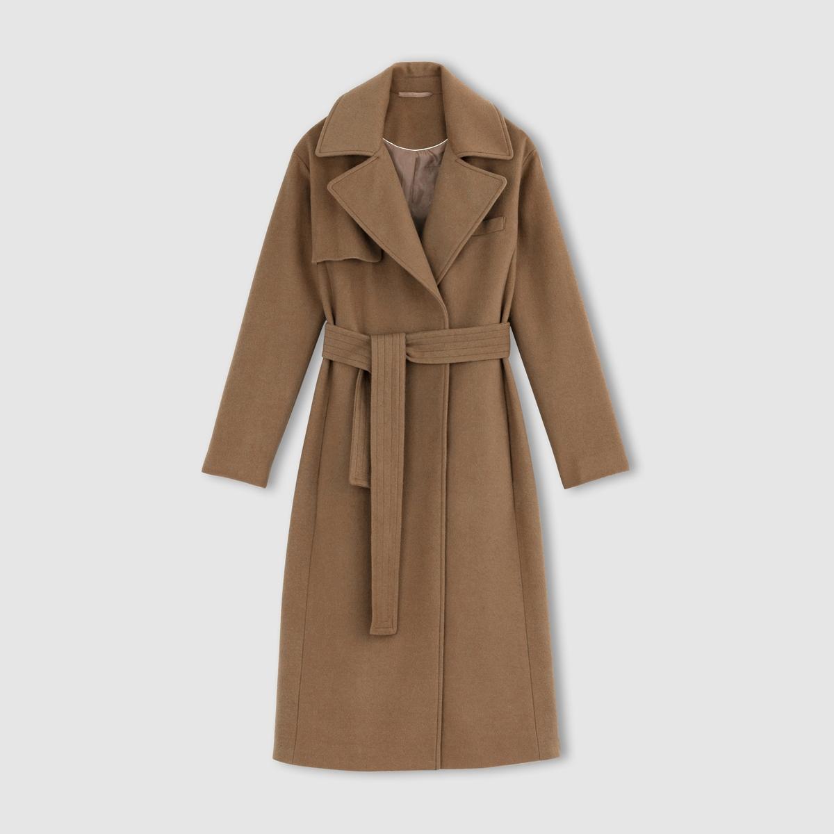 Abrigo largo de paño de lana