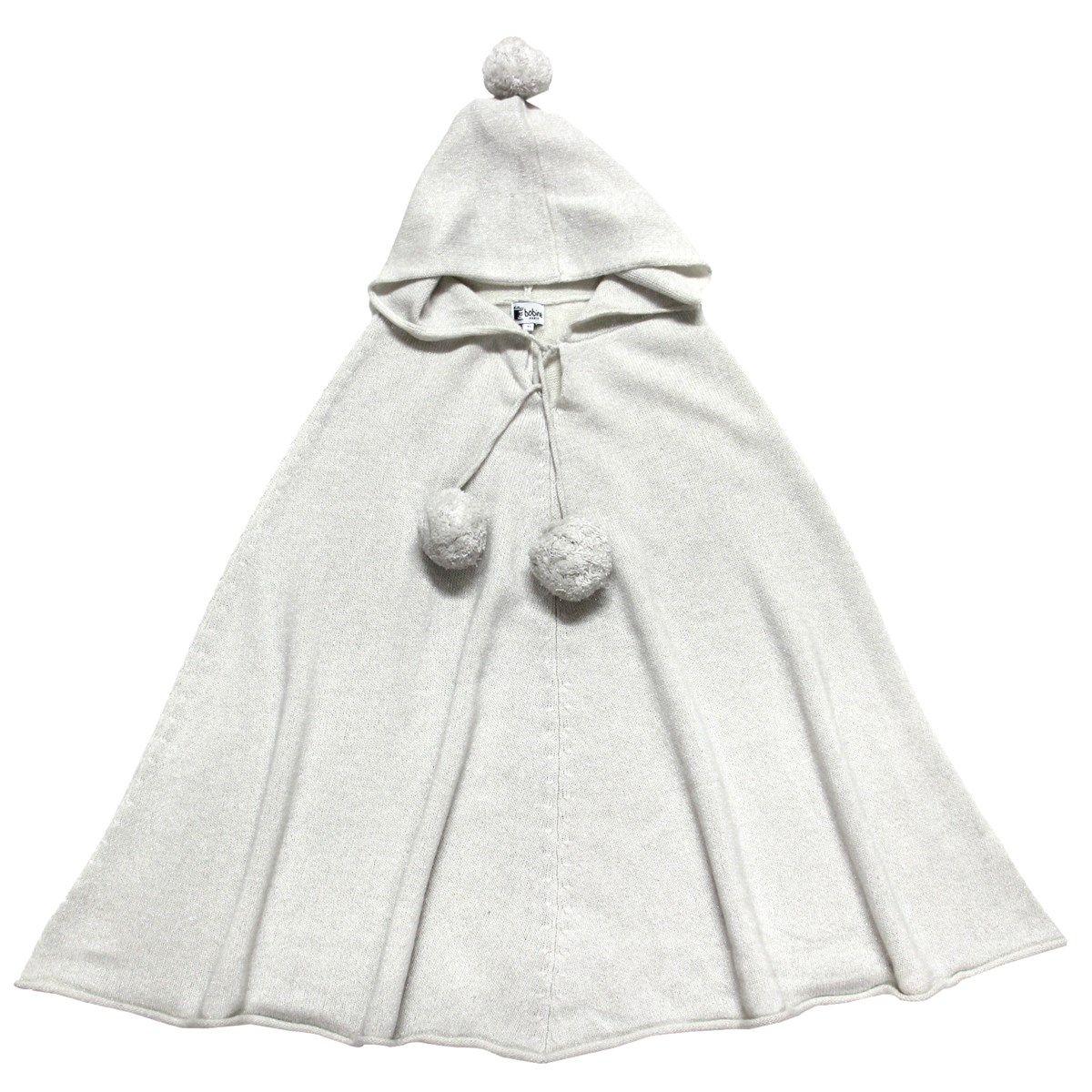 Poncho pailleté à capuche en laine et cachemire
