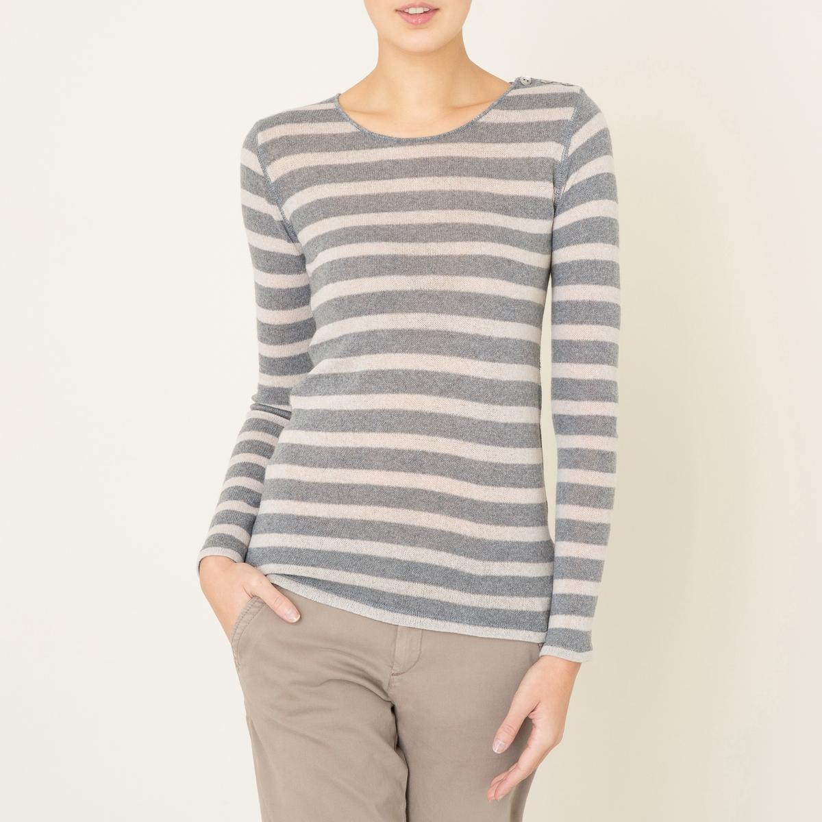 Пуловер из кашемира в полоску