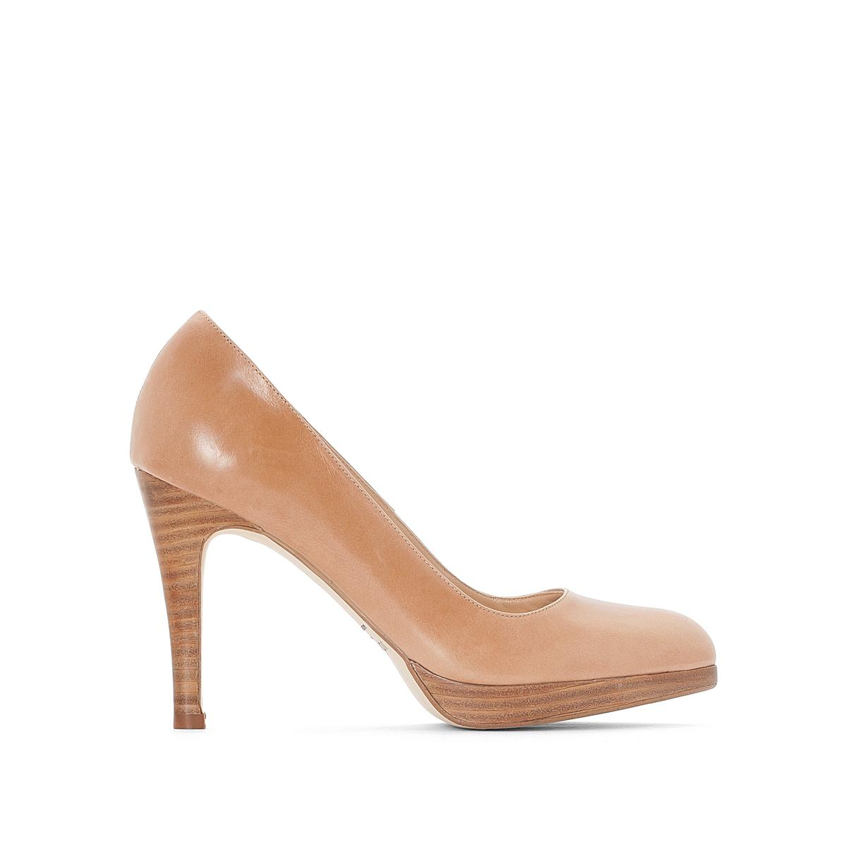 Туфли кожаные на каблуке-шпильке