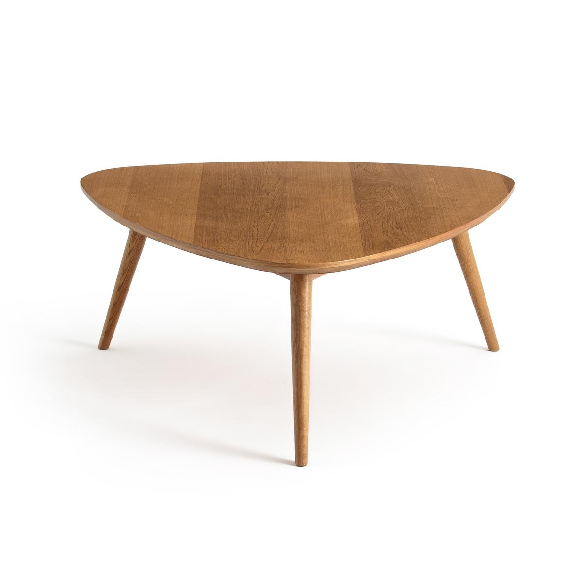 Столик La Redoute Журнальный в винтажном стиле из обыкновенного дуба QUILDA единый размер каштановый столик журнальный в винтажном стиле из обыкновенного дуба quilda