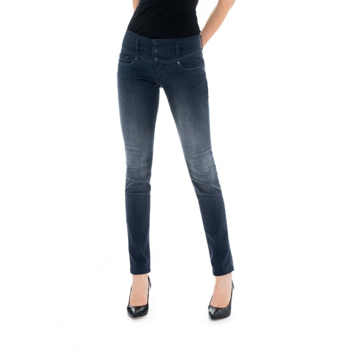 Pantalon Push Up Mystery Slim avec trame de couleur