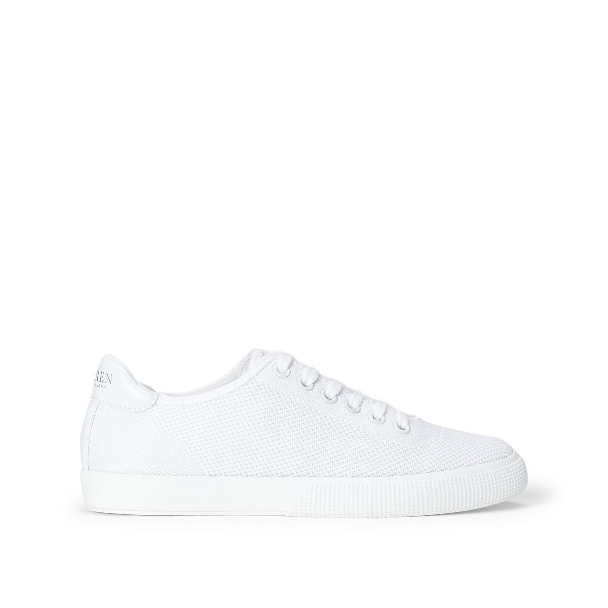 Кеды LaRedoute Тканевые на шнуровке 36 белый кеды laredoute высокие тканевые на шнуровке 39 белый