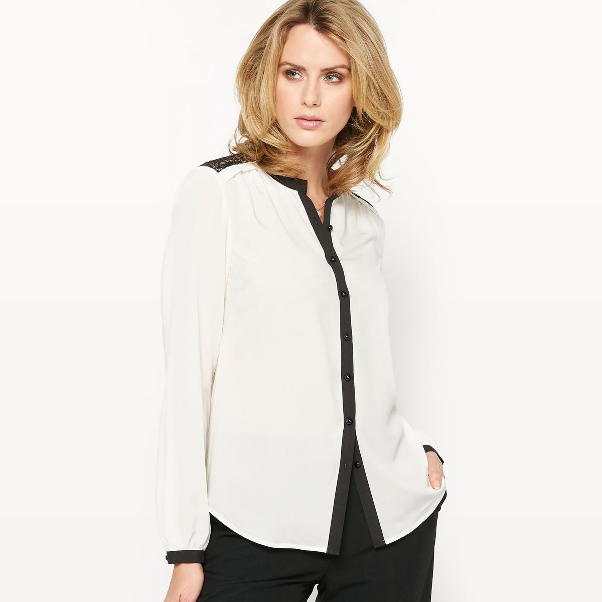Блузка с кружевными вставками от ANNE WEYBURN