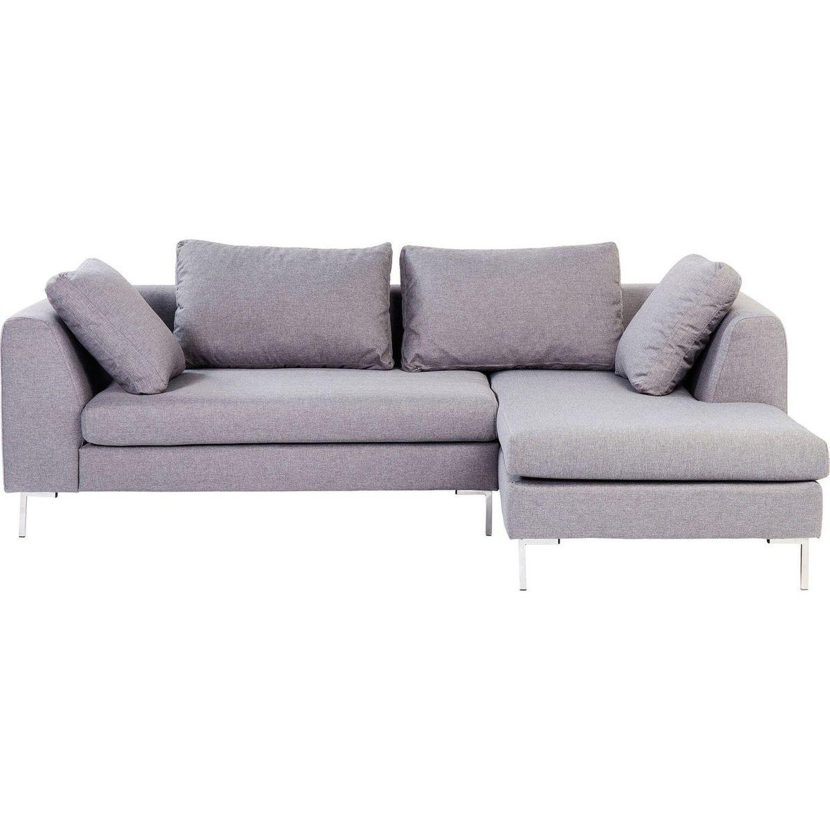 Canapé d'angle Bruno Panini petit modèle droit gris Kare Design