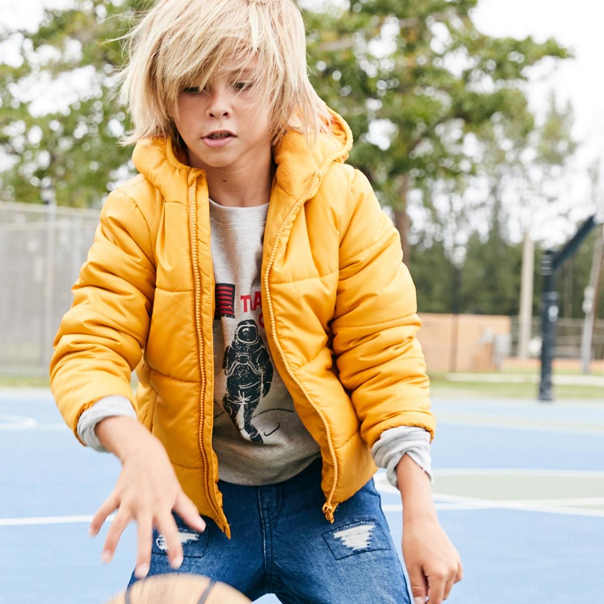 Куртка стеганая на подкладке из флиса, 3-12 лет