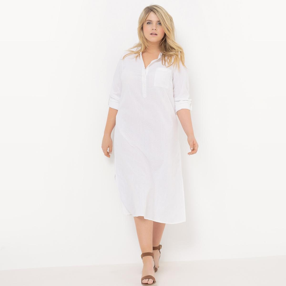 купить Платье-рубашка с длинными рукавами по цене 1619.4 рублей