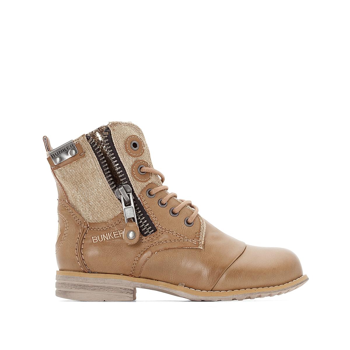 Ботильоны на молнии SaraВерх : синтетика   Подкладка : кожа   Стелька : кожа   Подошва : эластомер   Высота каблука : 2,5 см   Форма каблука : плоский каблук   Мысок : закругленный мысок  Застежка : молния<br><br>Цвет: красный,серо-коричневый,темно-коричневый<br>Размер: 40.37.39