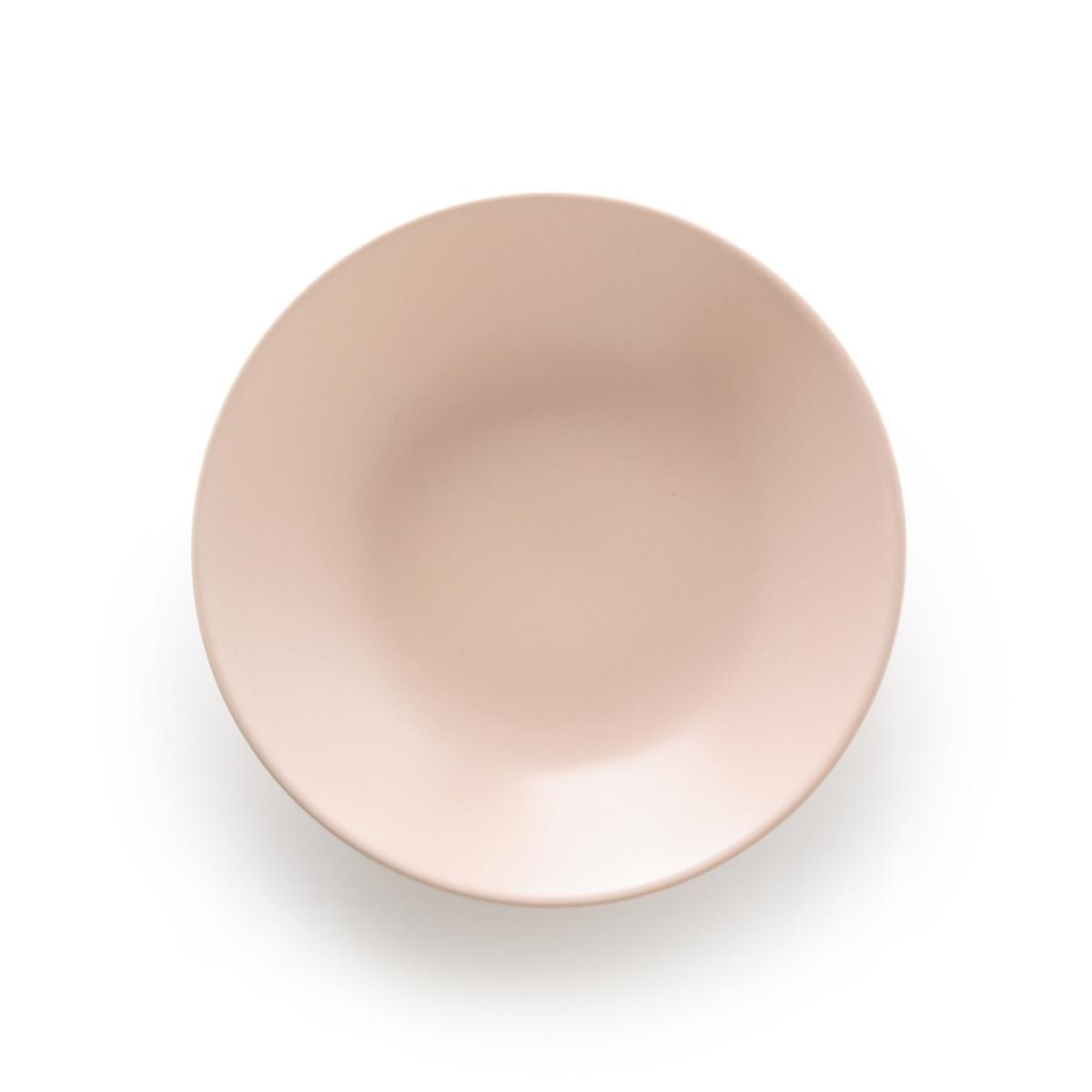 Комплект из 4 глубоких тарелок LaRedoute Из матового фаянса MELYA единый размер розовый плед laredoute из рифленого флиса puntos единый размер розовый