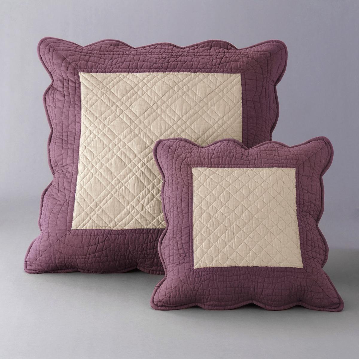Чехол для подушки стеганый двухцветный, 100% хлопка