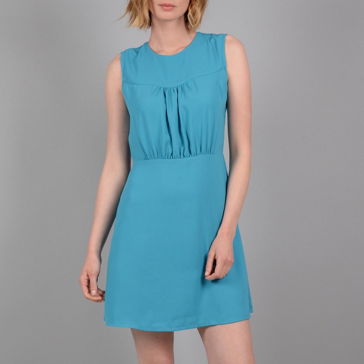 Платье La Redoute Короткое без рукавов со вставкой на груди L синий