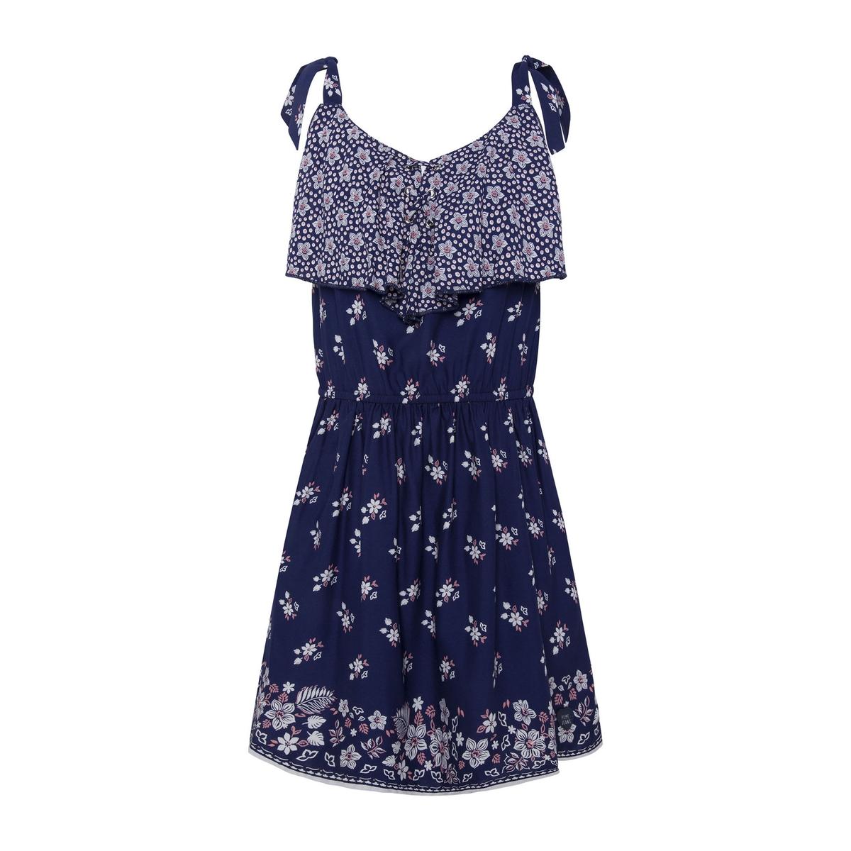 Платье La Redoute С цветочным рисунком на бретелях 16 лет - 162 см синий рубашка la redoute из ткани оксфорд 16 лет 162 см синий