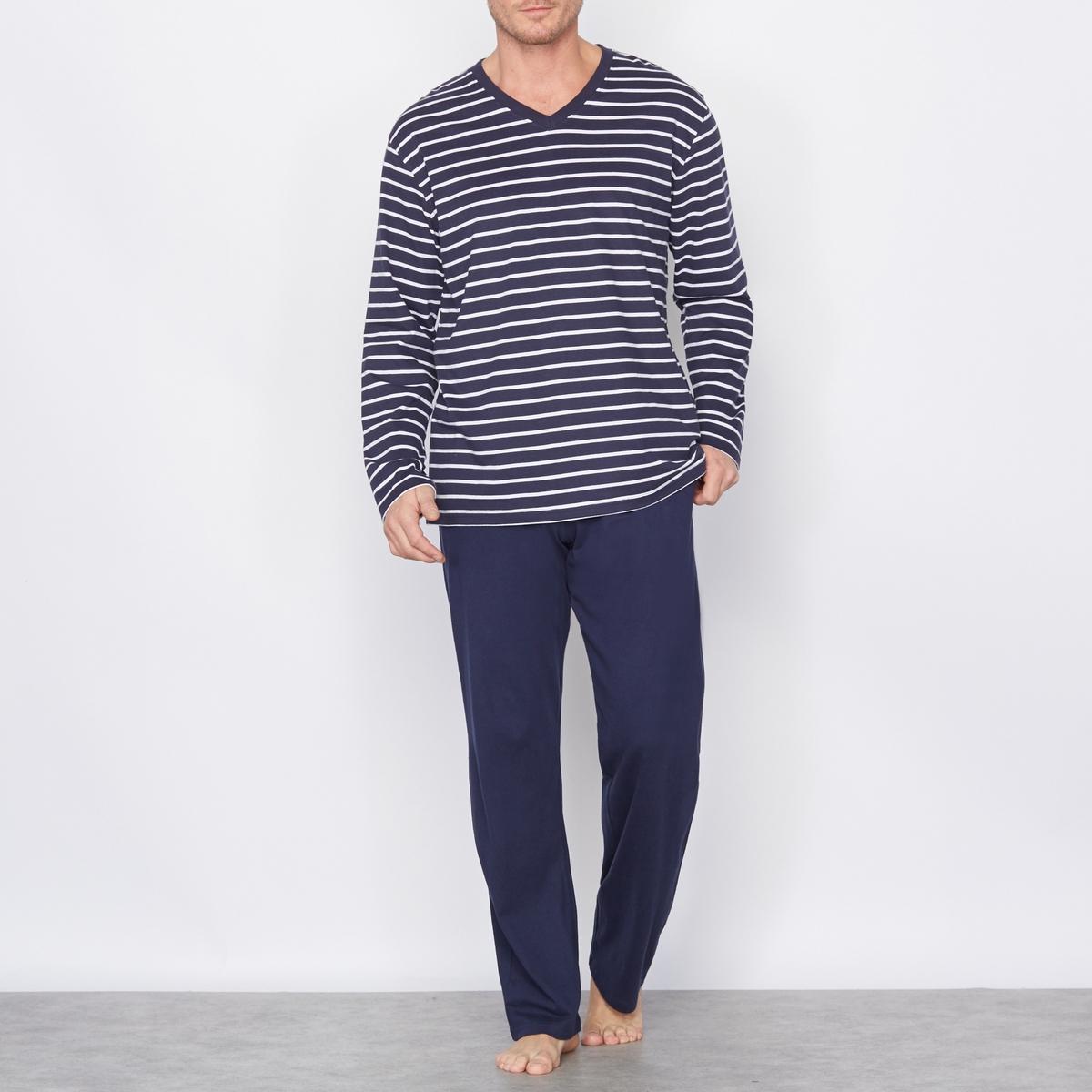 Pijama em jersey puro algodão