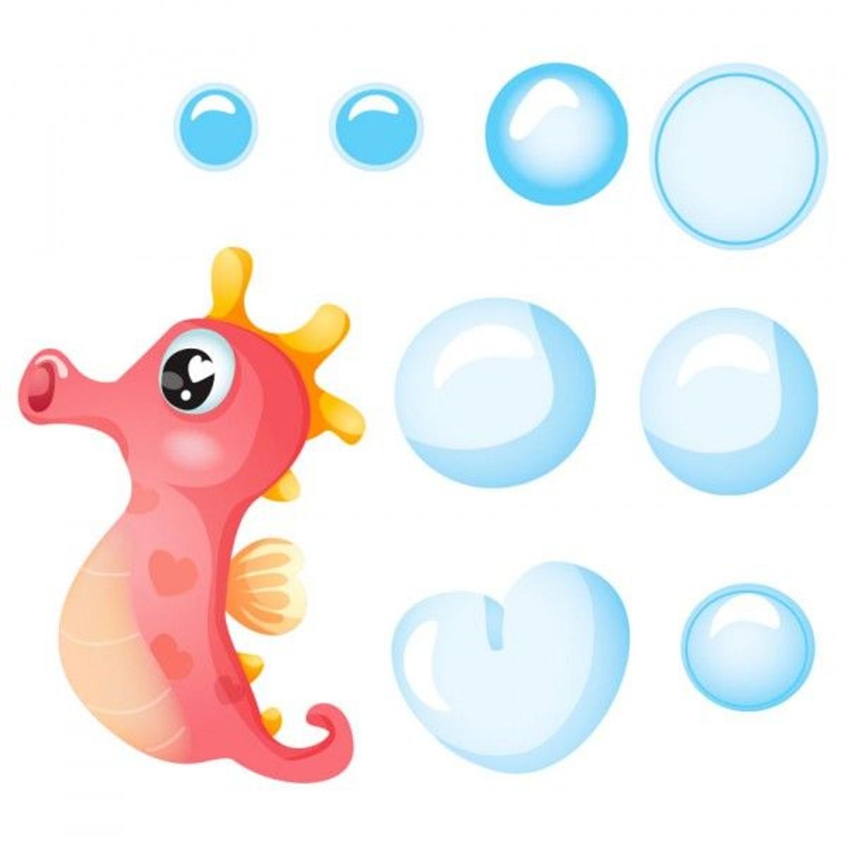 Stickers Hippocampe : Silo et ses bulles