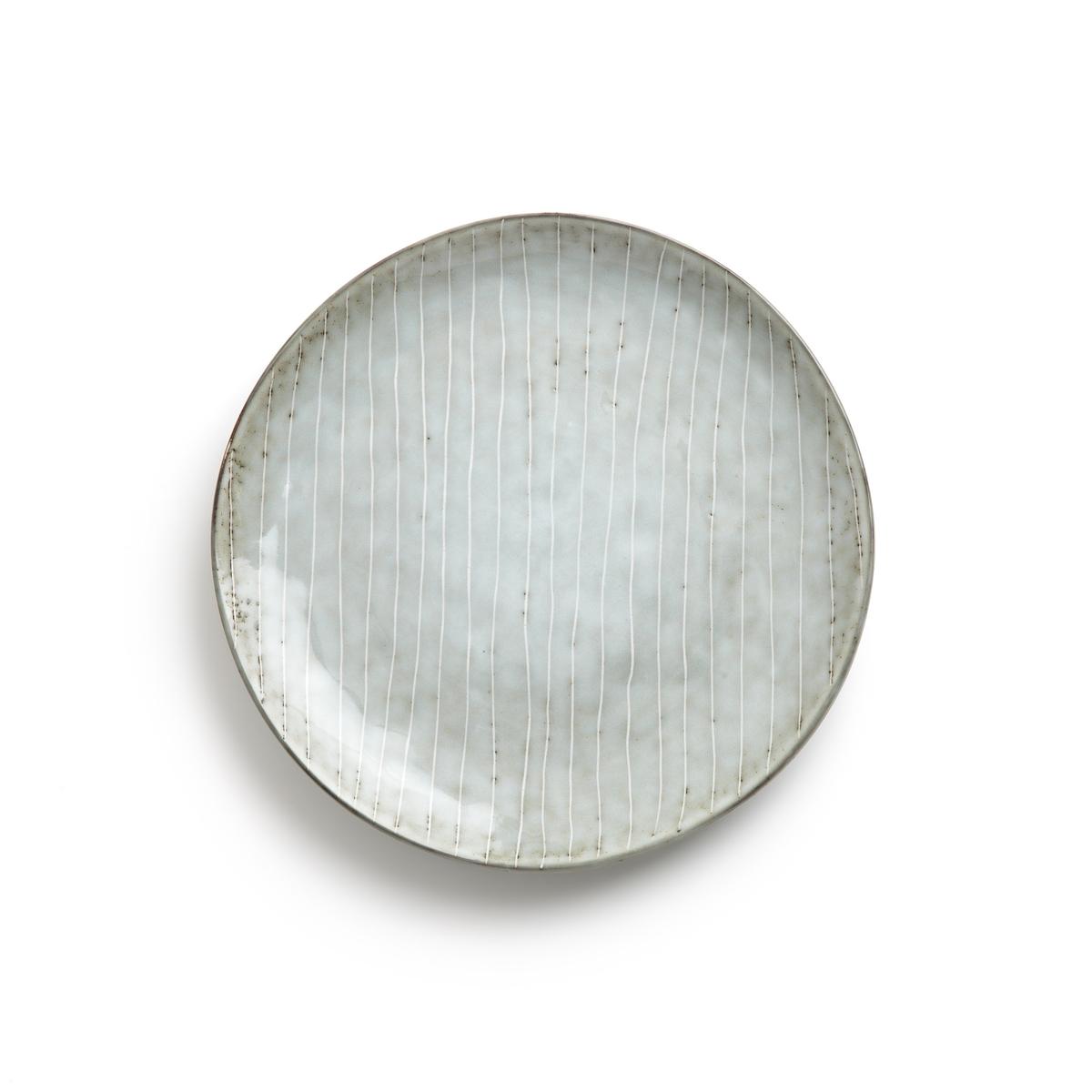 Комплект из 4 десертных тарелок из керамики, Amedras