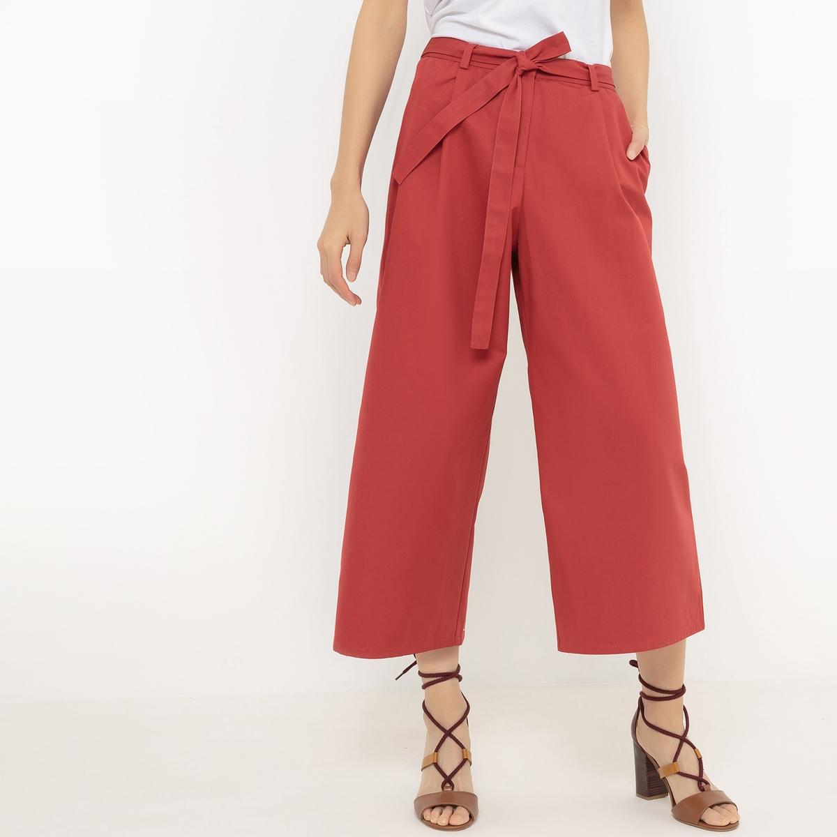 Юбка-брюки однотонные