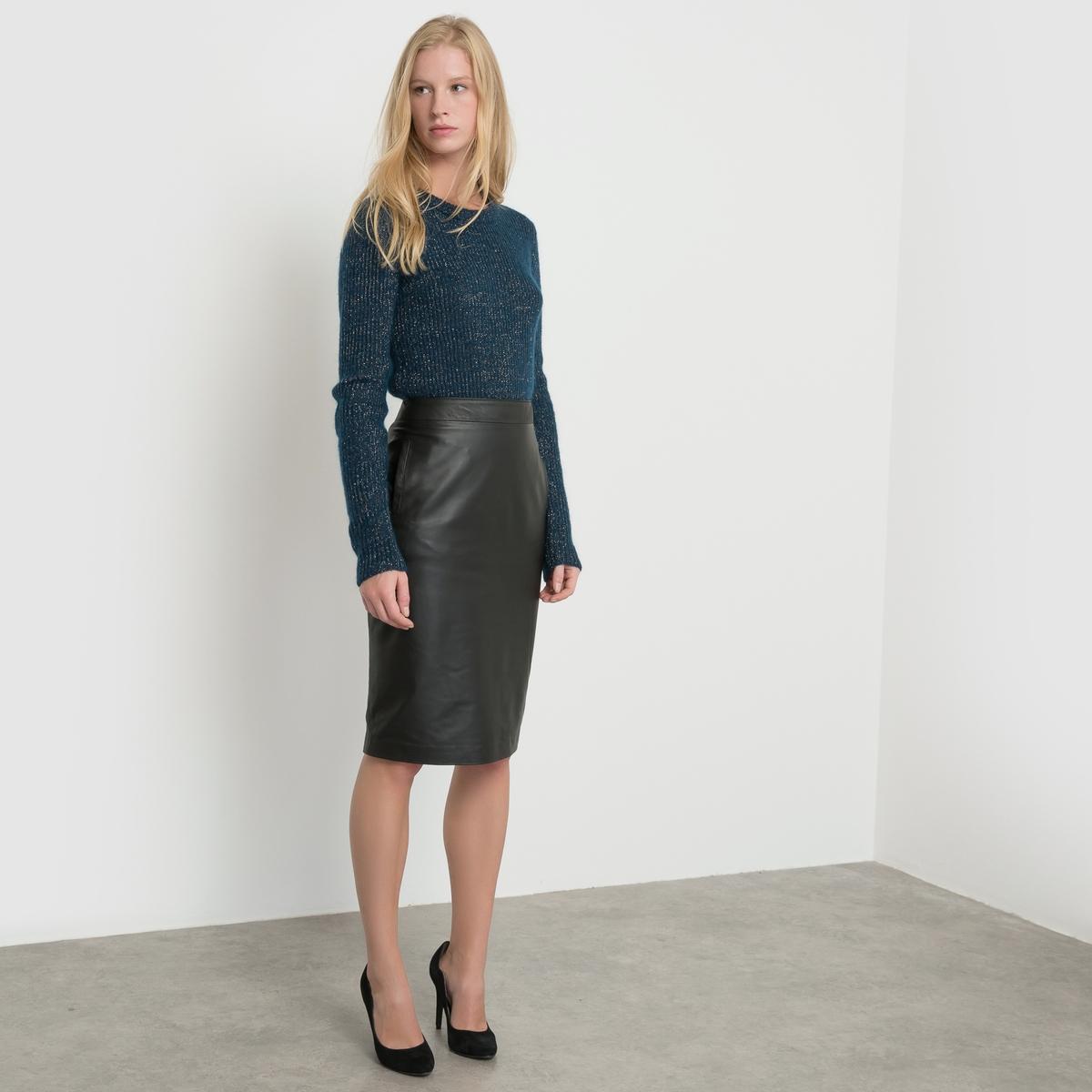 Пуловер в рубчик, с длинными рукавами и круглым вырезомПуловер с длинными рукавами atelier R. Пуловер в рубчик с отделкой металлизированными волокнами. Отделка выреза в рубчик. Грубая отделка низа и манжет.Состав и описание:Длина: 65 смМатериал: 39% полиамида, 30% шерсти, 21% мохера, 7% полиэстера, 3% металлизированных волокон Марка: atelier RУход- Ручная стирка.Сразу после стирки расправить- Сушить в расправленном виде.Гладить при умеренной температуре<br><br>Цвет: серый меланж,сине-зеленый<br>Размер: 46/48 (FR) - 52/54 (RUS).46/48 (FR) - 52/54 (RUS).38/40 (FR) - 44/46 (RUS)