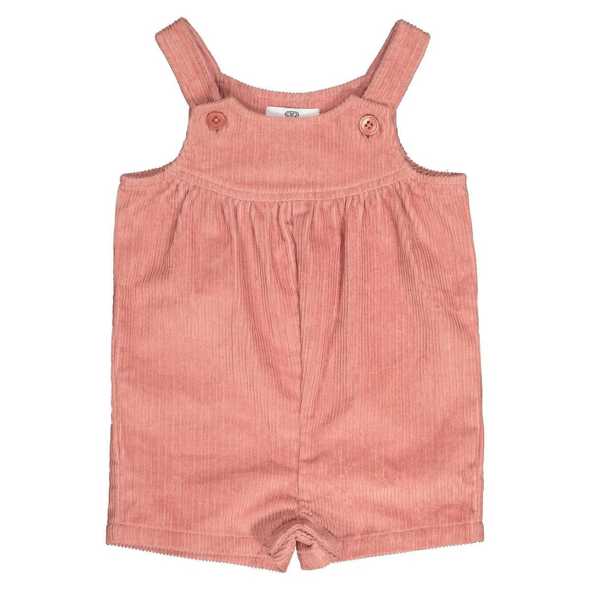 Комбинезон La Redoute Короткий из велюра мес - года 3 года - 94 см розовый платье la redoute из мольтона в полоску и тюля мес года 3 года 94 см розовый