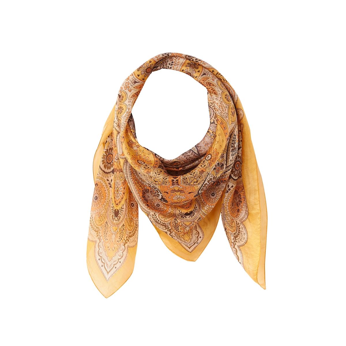 Платок квадратный с кашемировым рисунком из шелка платок из вискозы и шелка