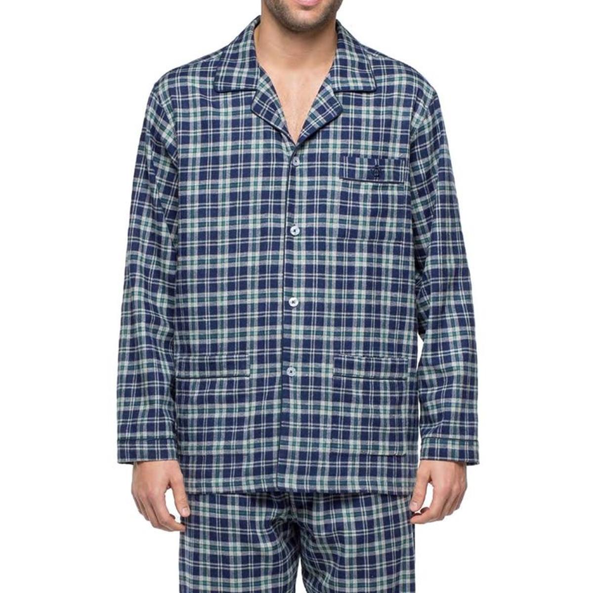Pyjama long   en flanelle de coton