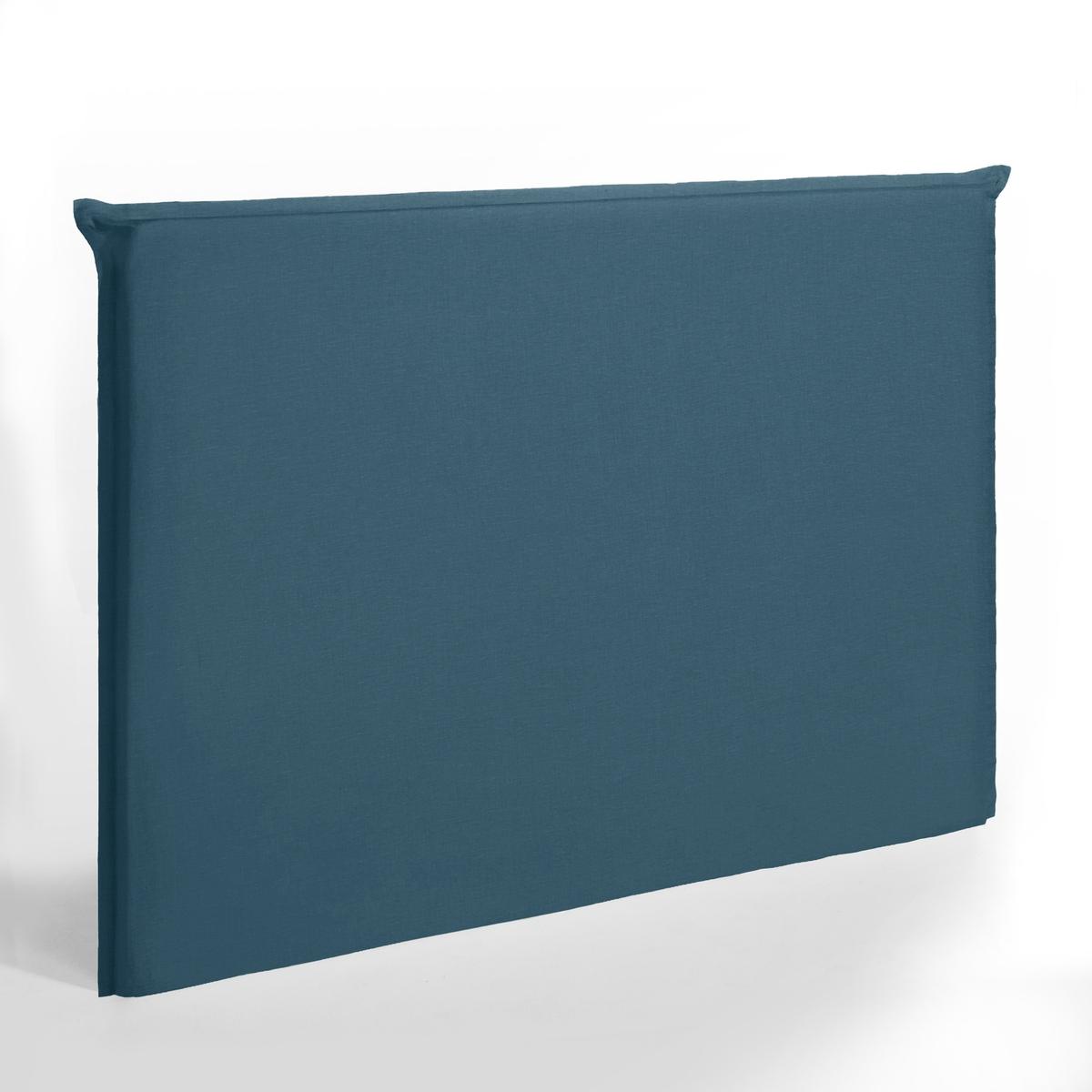 Чехол La Redoute Для изголовья кровати высотой см из стираного льна Sandor 140 см синий чехол из льна с помпонами для изголовья кровати sandor