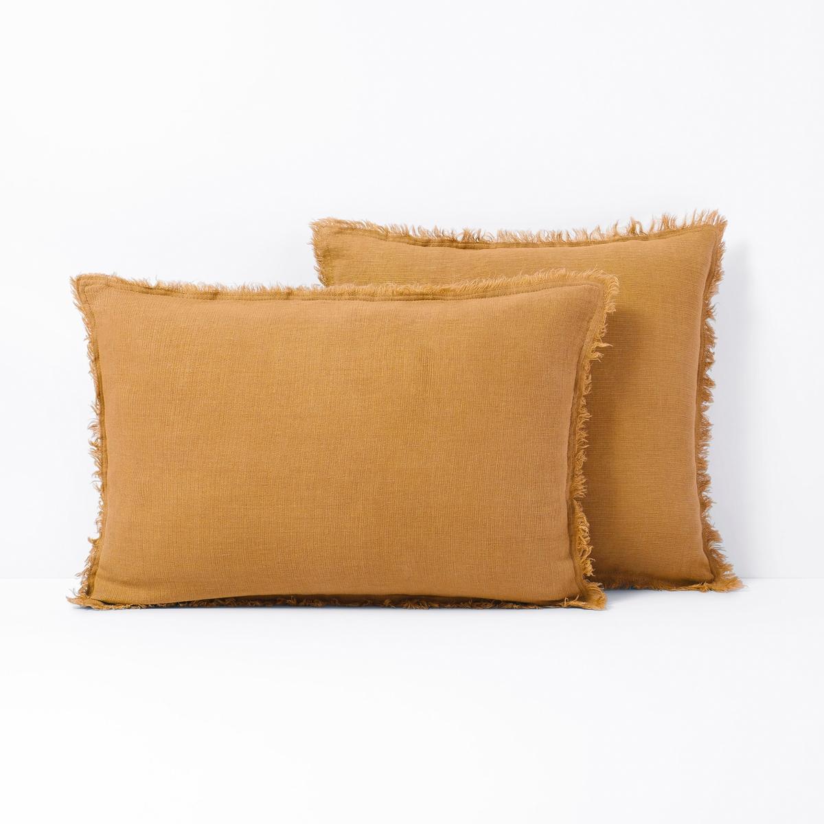 Чехол для подушки из льна, LINANGEЧехол для подушки Linange отмечен знаком качества Qualit? Best. Чехол для подушки Linange красивой цветовой гаммы добавит характера Вашему интерьеру.Натуральный материал и тонкие оттенки,  однотонная наволочка Linange прекрасно сочетается с однотонными моделями или с рисунком в спальне или зале . Характеристики льняного чехла для подушки Linange  :- 100% стираный лен.- Отделка бахромой с 2 сторон .- Машинная стирка при 40°.Размеры чехла для подушки Linange :50 x 50 см60 x 40 см Всю коллекцию Linange и нашу коллекцию текстиля для интерьера Вы найдете на laredoute.ru  .ruЗнак Oeko-Tex® гарантирует, что товары прошли проверку и были изготовлены без применения вредных для здоровья человека веществ.<br><br>Цвет: белый,синий индиго<br>Размер: 60 x 40  см.60 x 40  см