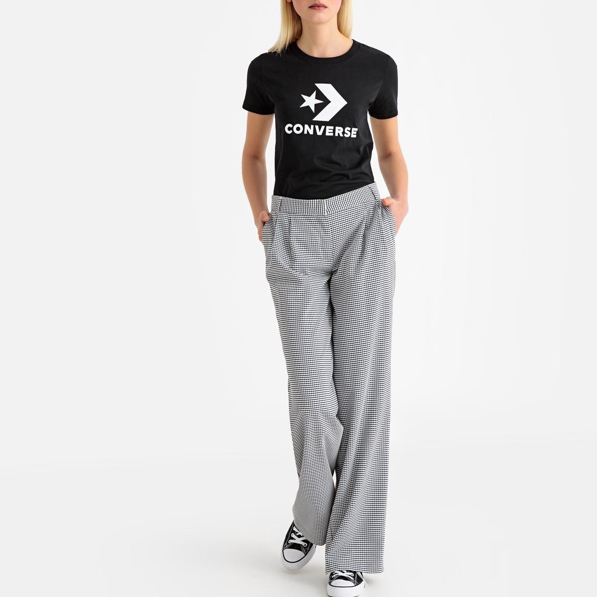 Imagen secundaria de producto de Camiseta con cuello redondo y logotipo estampado en el pecho - Converse