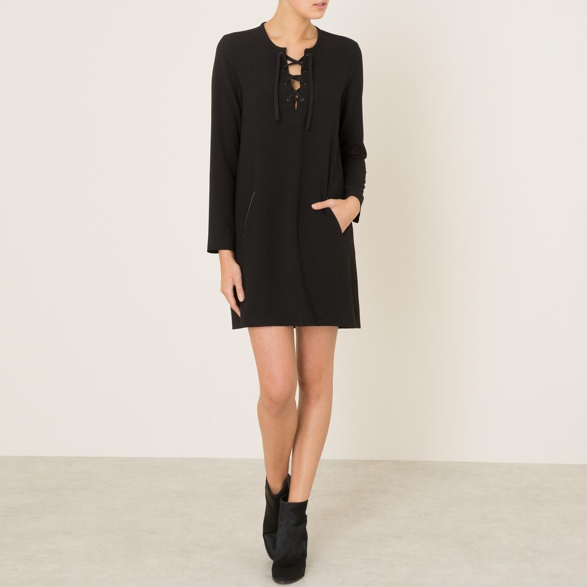 Платье RAQUELСостав и описаниеМатериал : 95% полиэстера, 5% эластана  Длина : 87 см. (для размера 1)Марка : HARTFORD<br><br>Цвет: черный<br>Размер: M