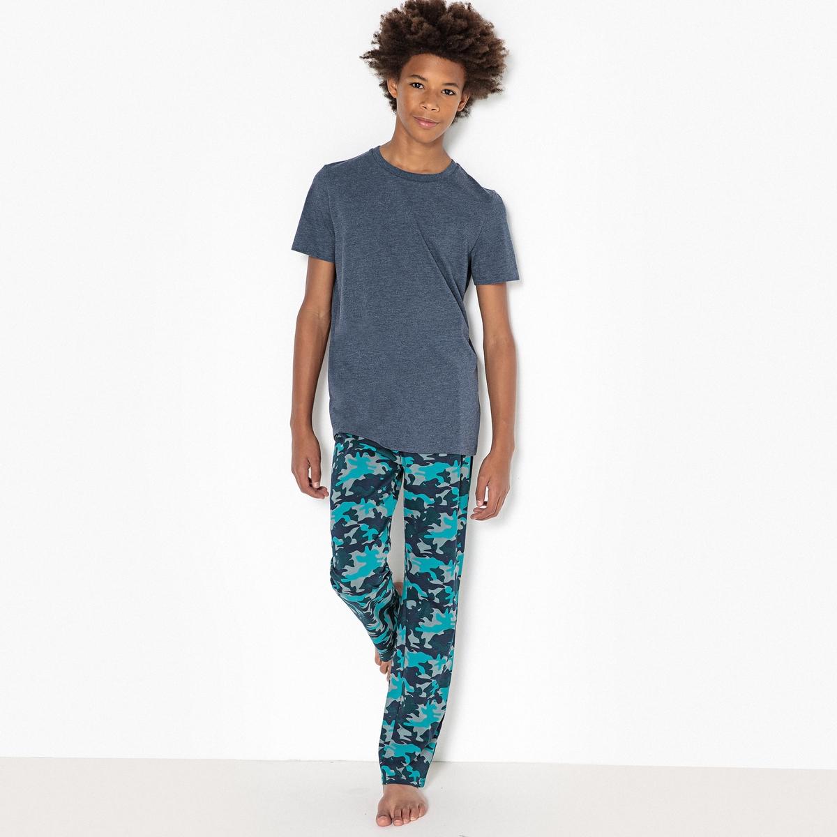 Пижама с камуфляжным рисунком из хлопка, 10-16 лет комбинезон пижама с рисунком 10 16 лет
