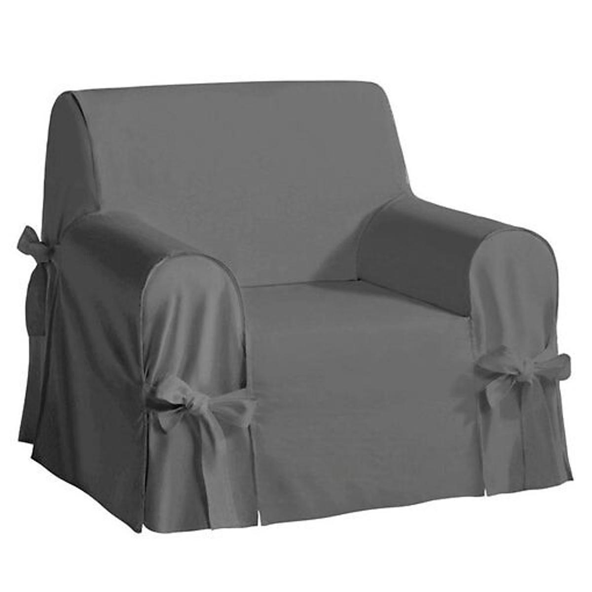 Чехол LaRedoute Для кресла из льна и хлопка JIMI единый размер серый
