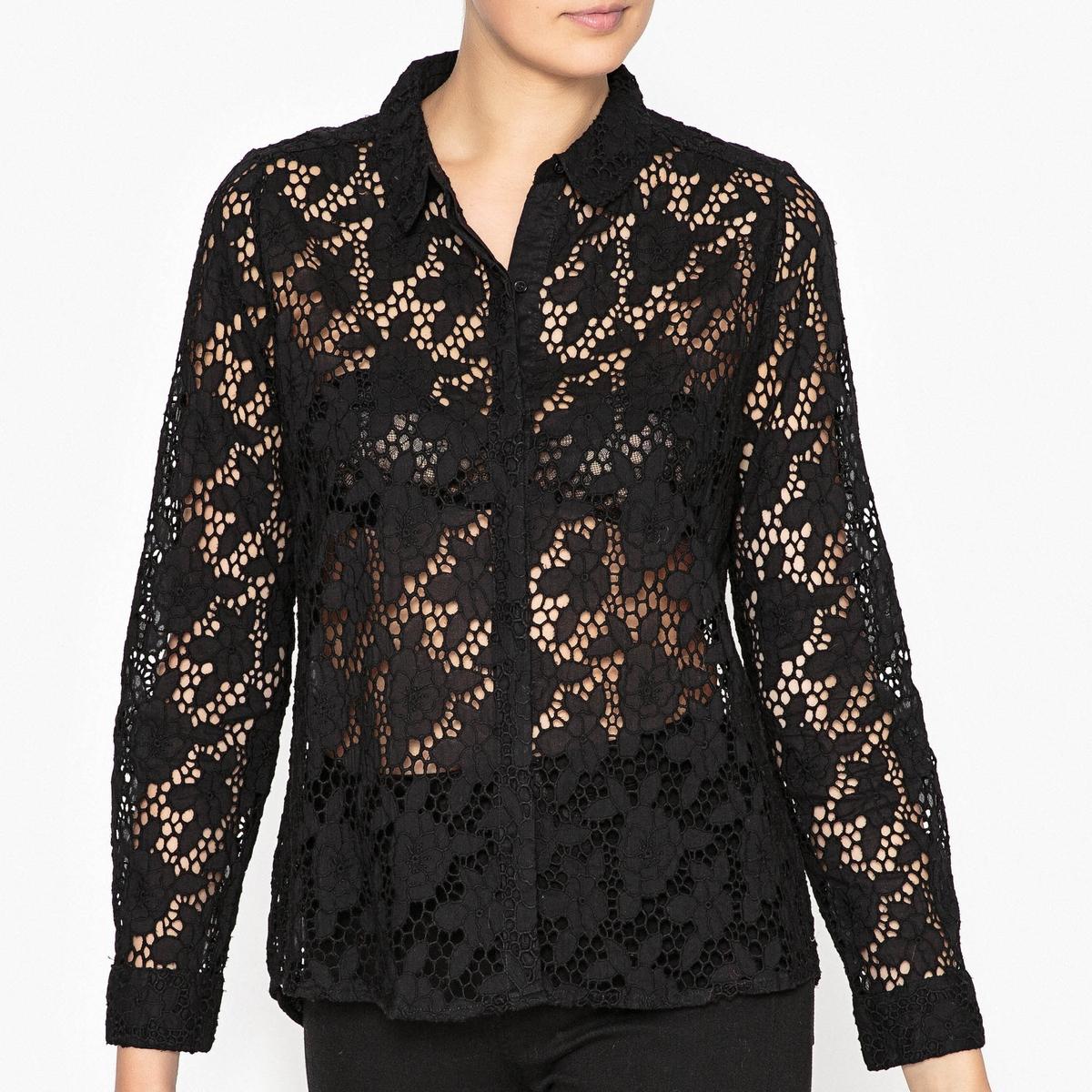 Рубашка с ажурным кружевом AUGUSTA