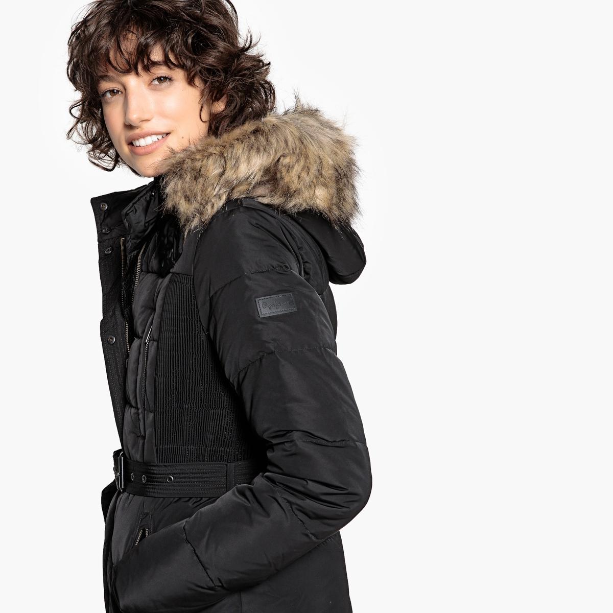 Куртка длинная с капюшоном из искусственного меха удлиненная куртка с капюшоном peggy ho удлиненная куртка с капюшоном