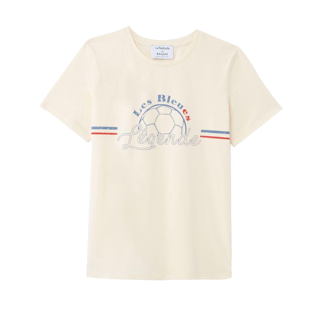 T-shirt col rond manches courtes imprimé devant