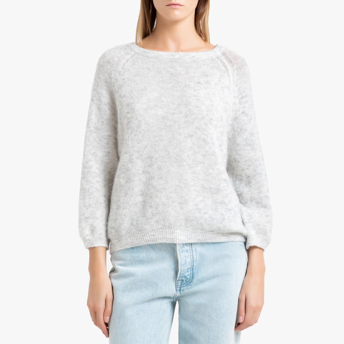 Пуловер La Redoute С вырезом-лодочка WOXILEN M/L серый цена в Москве и Питере