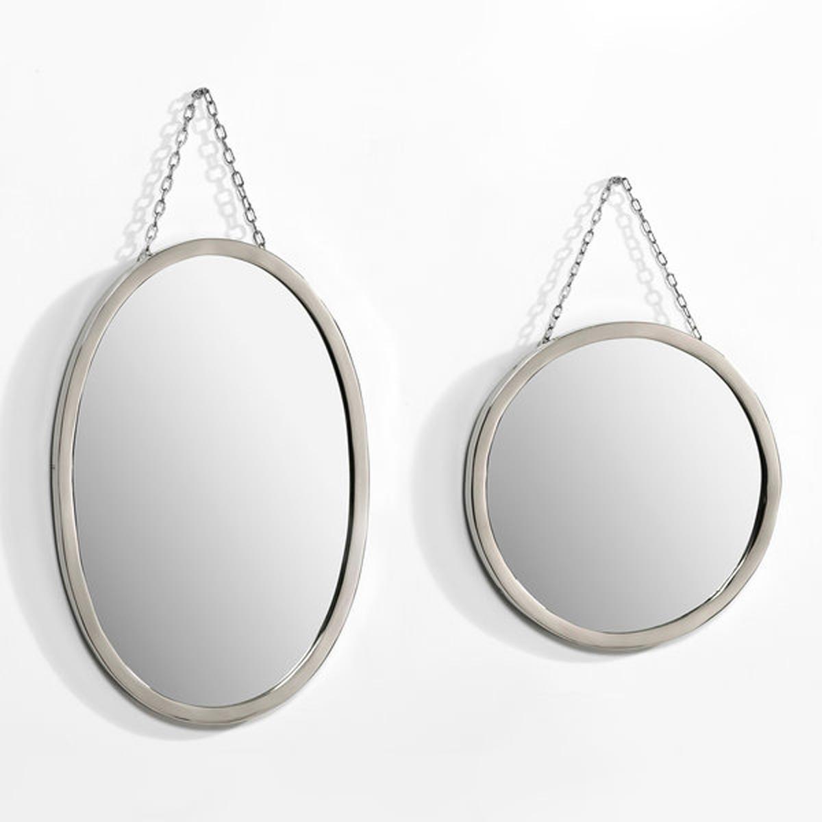 Зеркало Barbier, круглое ?30 смЗеркало круглое в ретро стиле  .Характеристики: :- Рамка из никелированной латуни  .- Цепочка-подвеска из металла с никелевым покрытием  .Размеры  :- Диаметр 30 см.<br><br>Цвет: безцветный