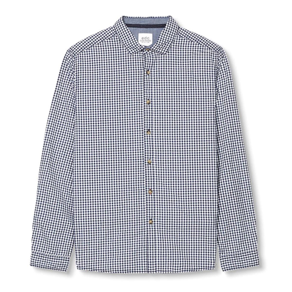 Рубашка в клетку, 100% хлопка от La Redoute