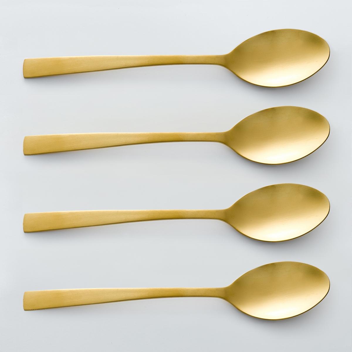 Комплект из 4 суповых ложек золотого цвета, AUBERIE