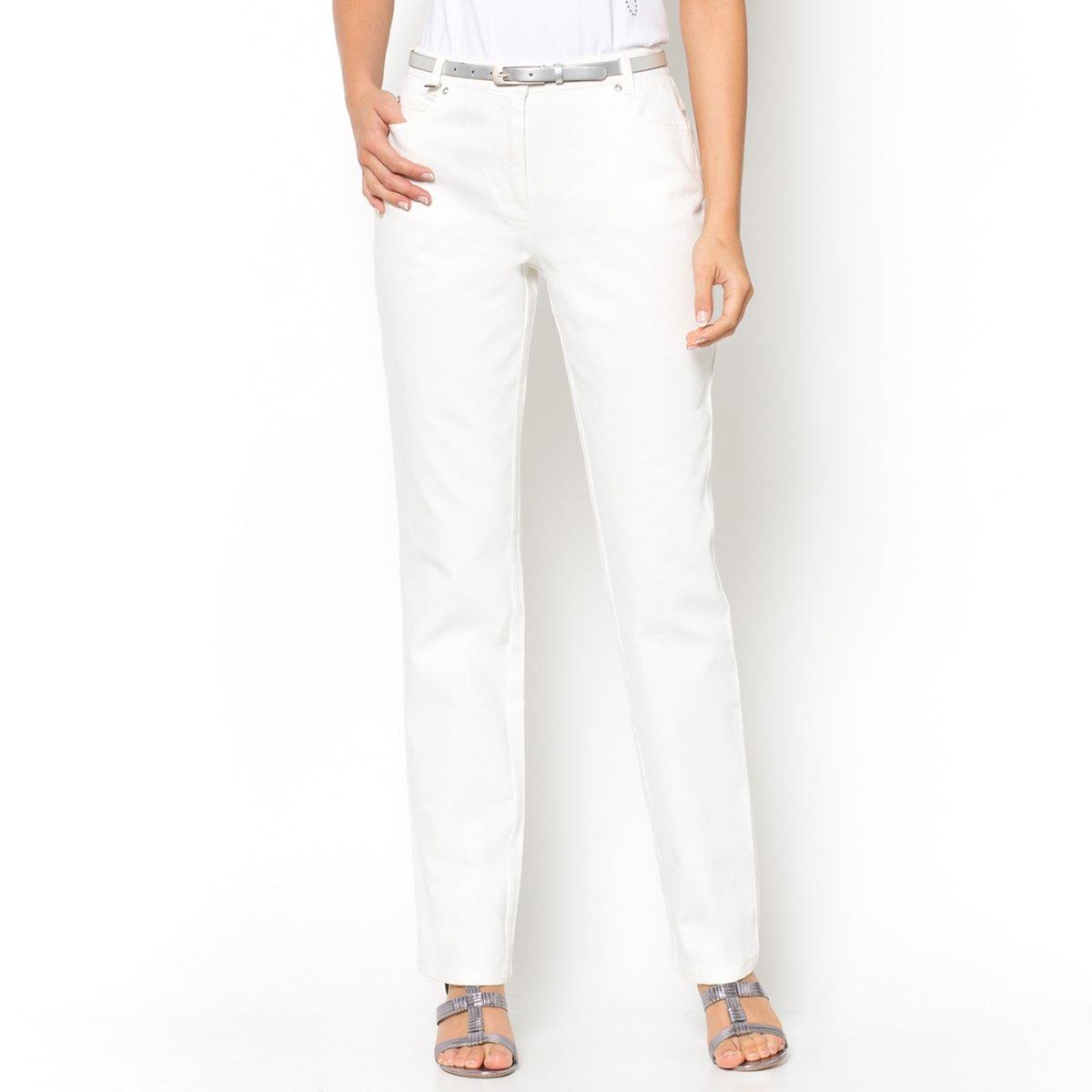 Jeans direitos, cintura descida