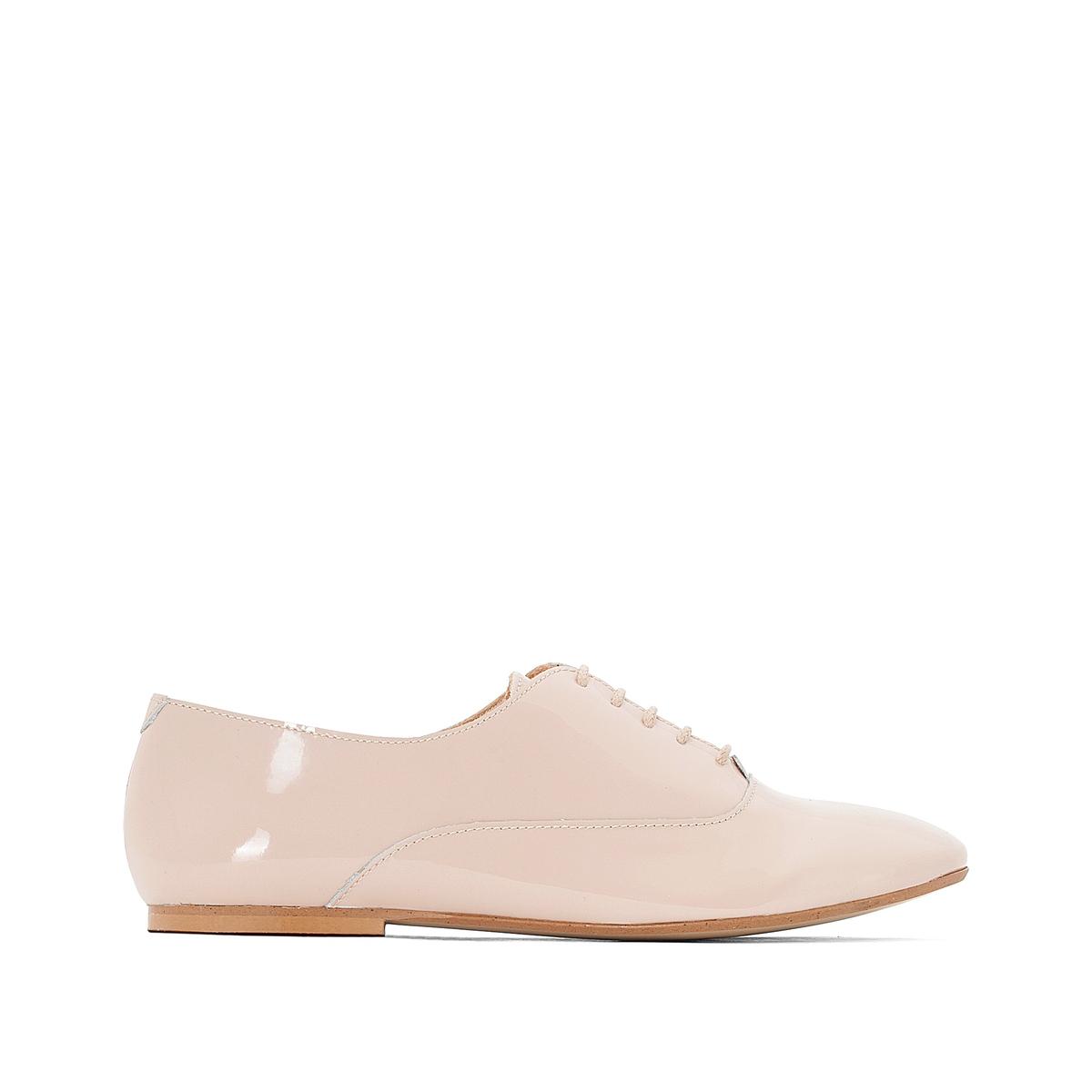 Ботинки-дерби из лакированной кожи цена
