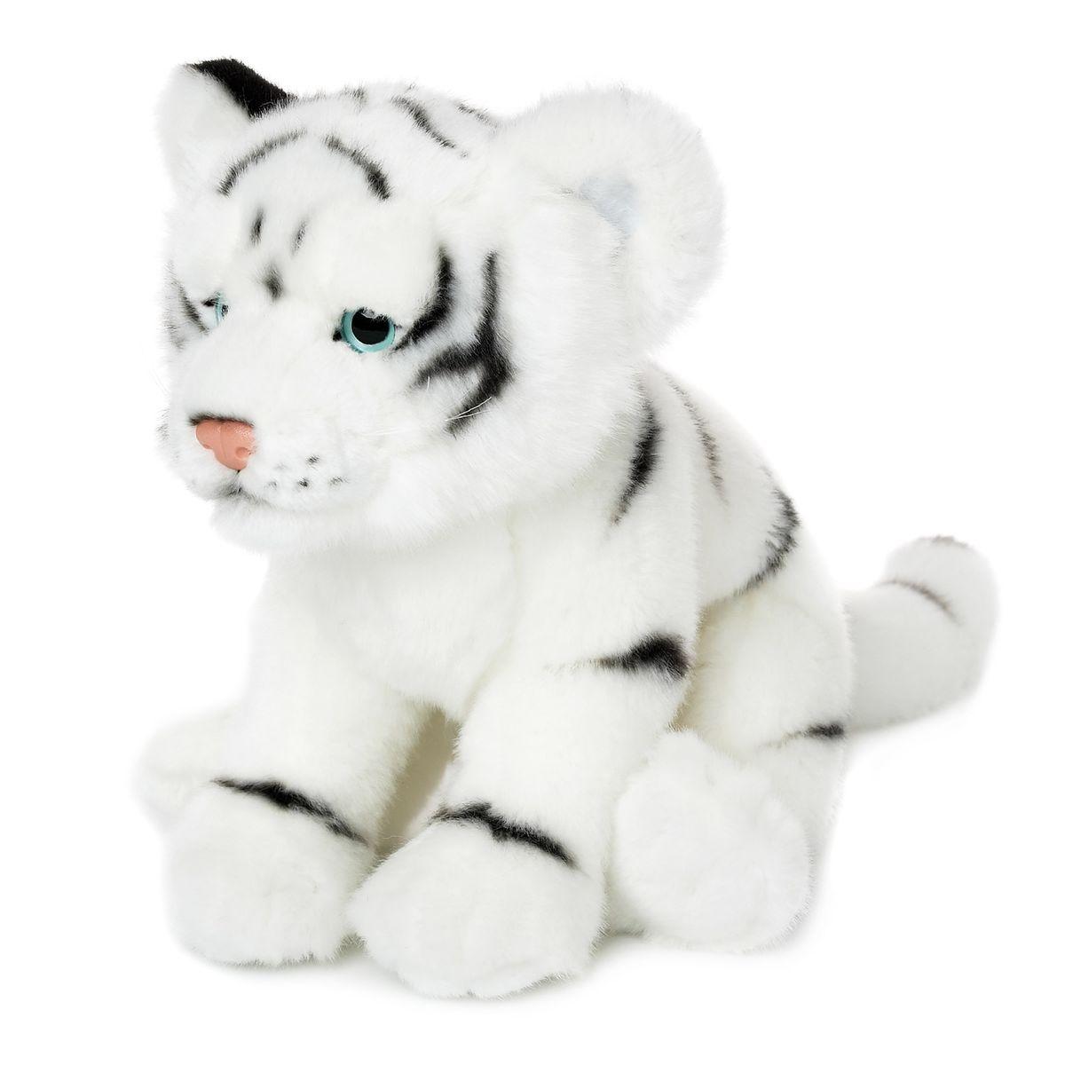 Peluche : WWF Tigre blanc couché 23 cm