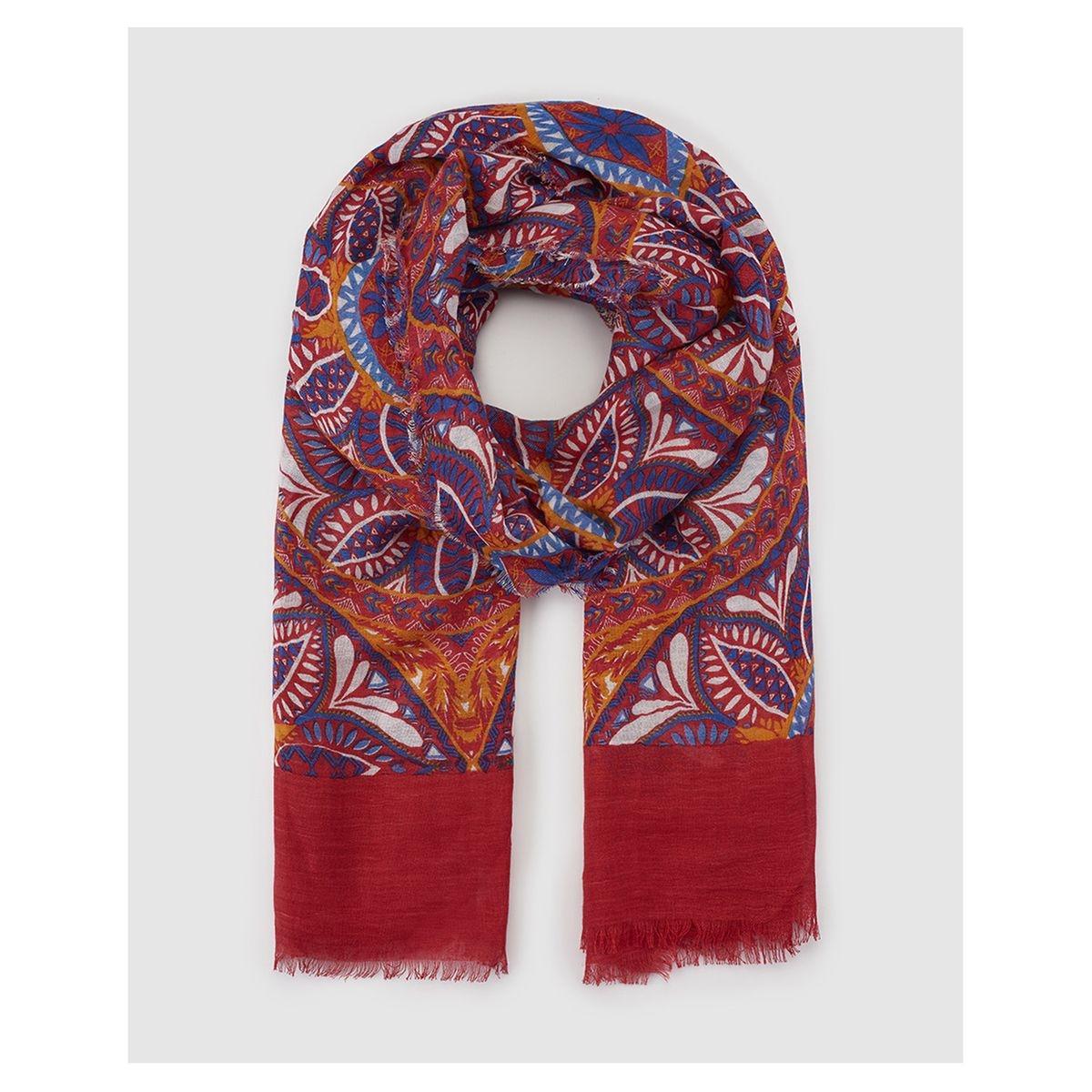 Foulard en lin multicolore