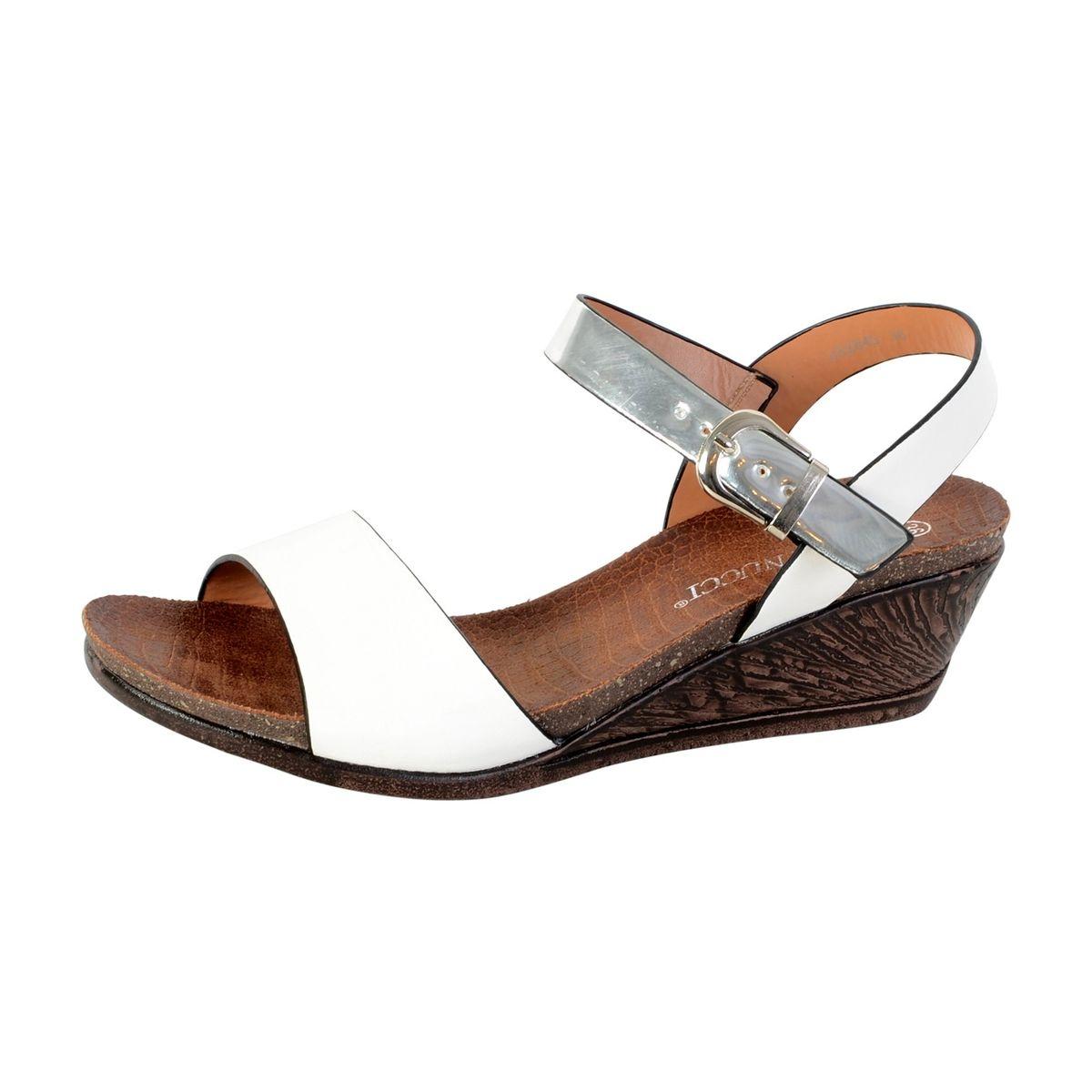 Sandale Compensée Blanc
