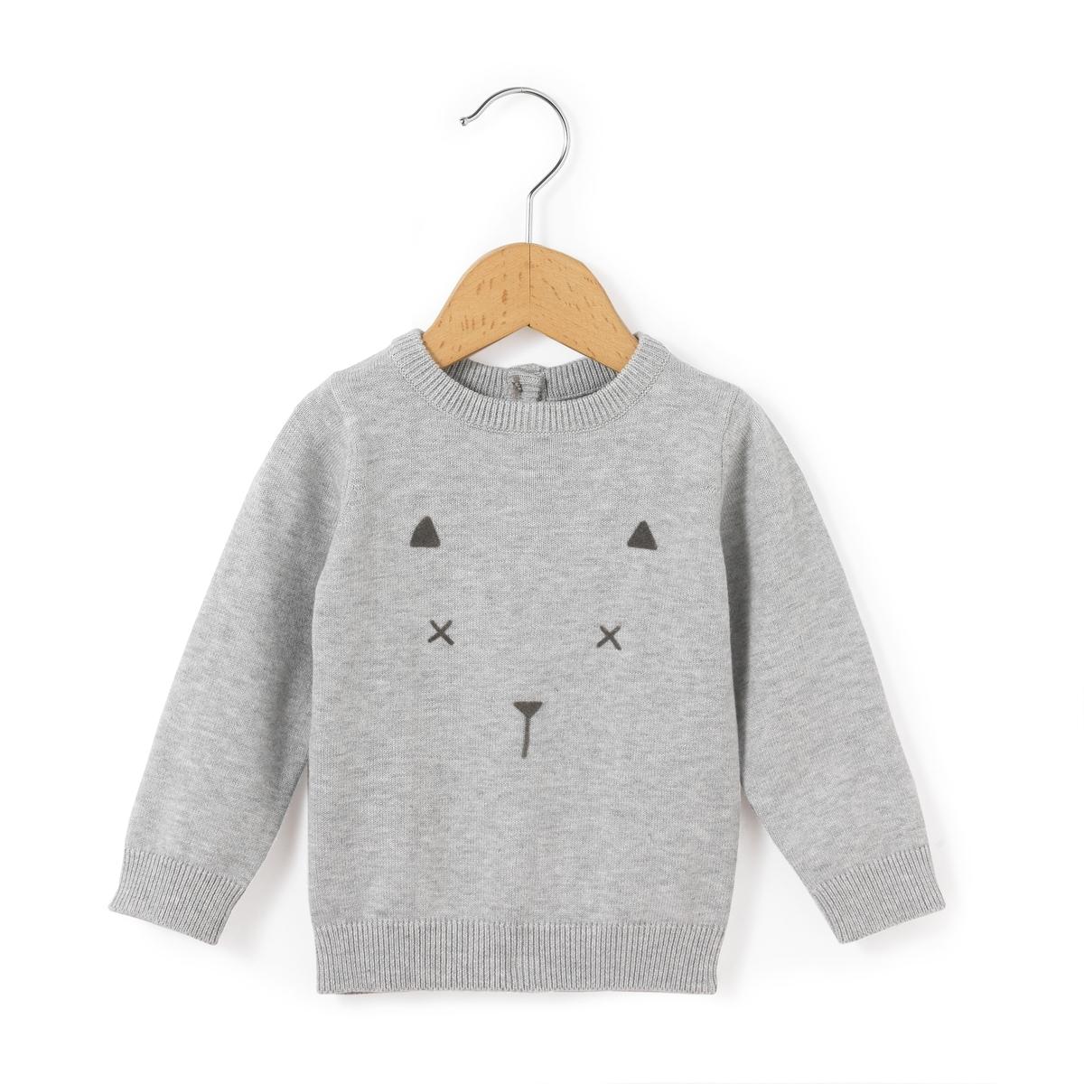 Пуловер с рисунком кошка, 0 мес. - 3 года