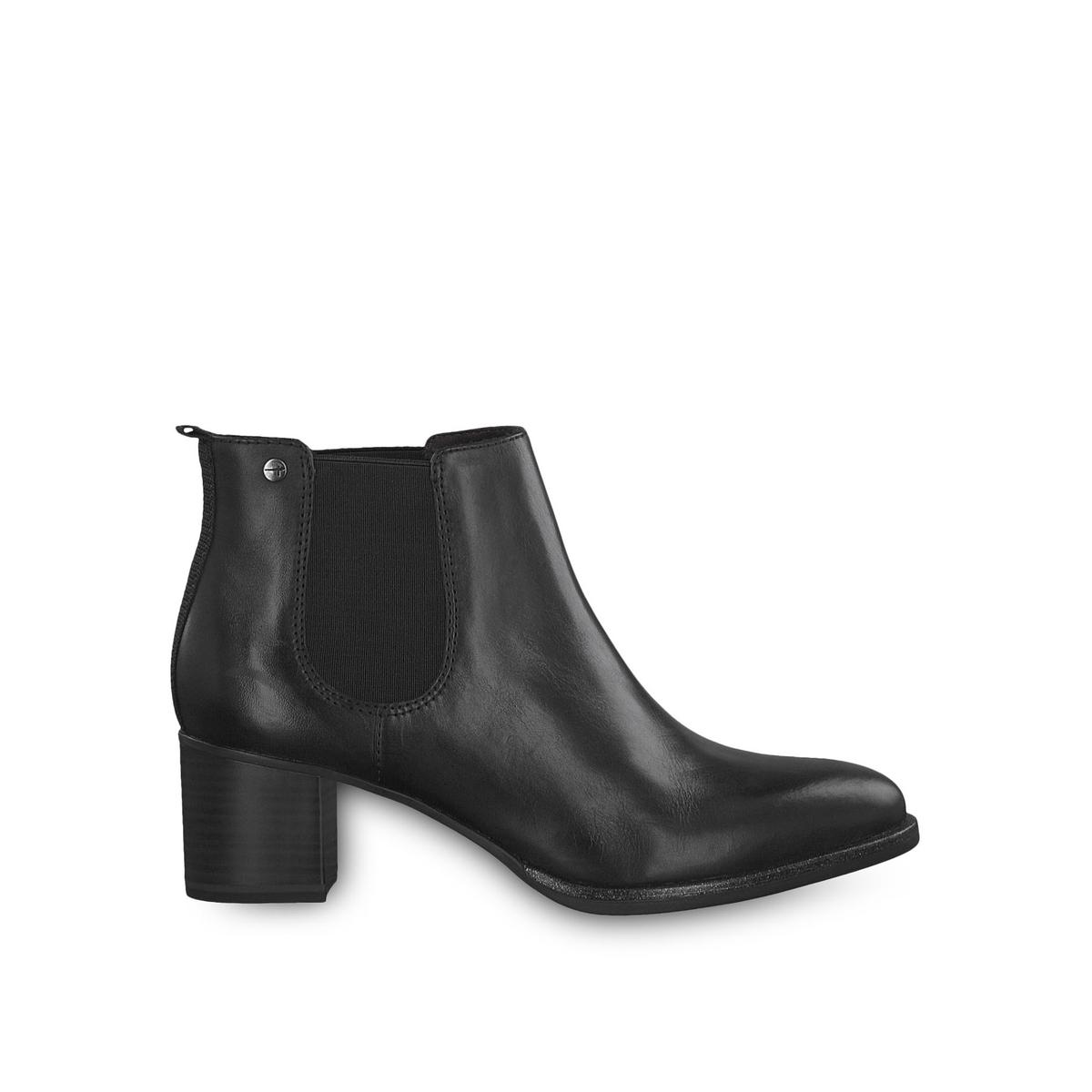 Ботильоны La Redoute На каблуке кожаные Thea 36 черный ботильоны la redoute кожаные на каблуке claudette calf 37 черный