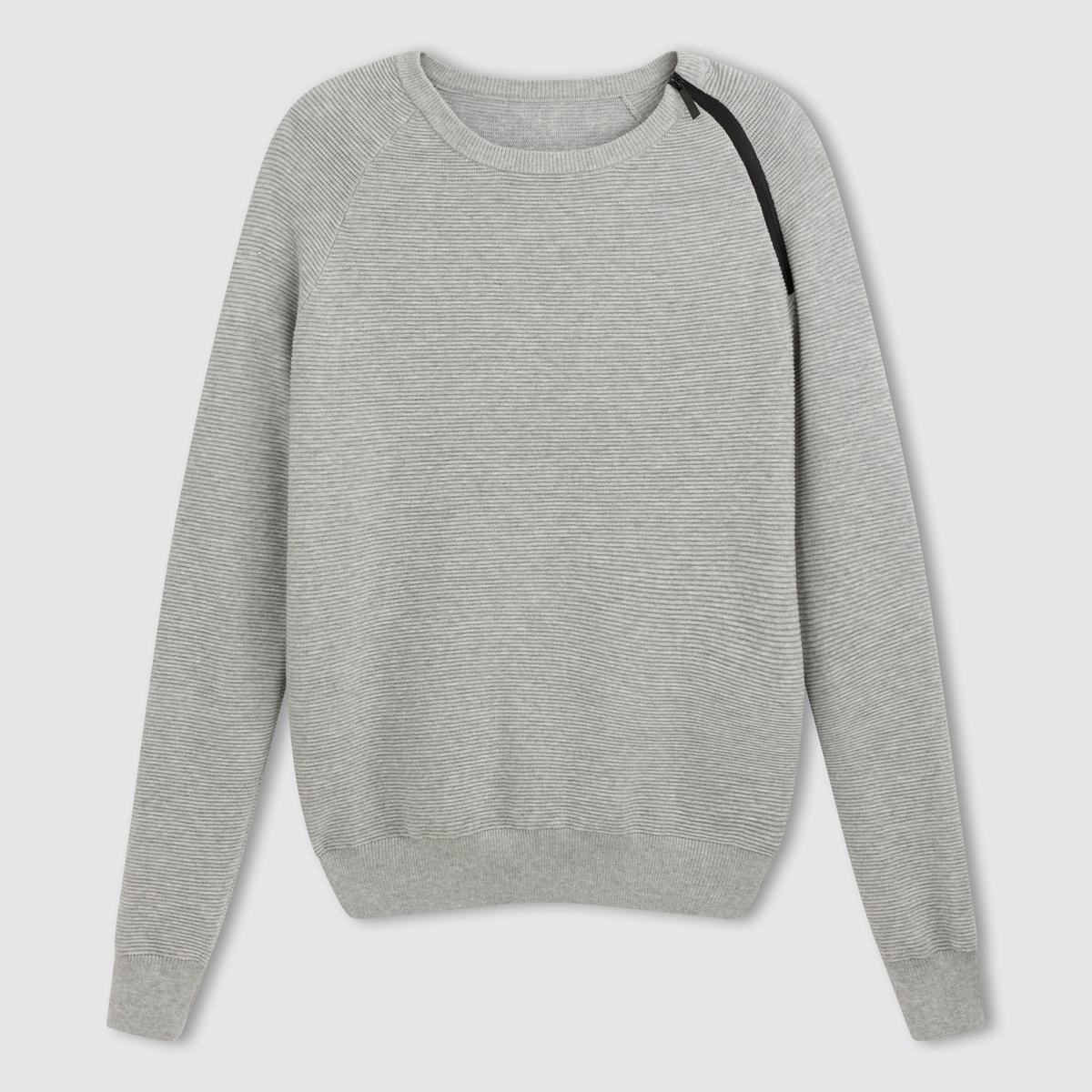 Пуловер с круглым вырезом и длинными рукавами от La Redoute Collections
