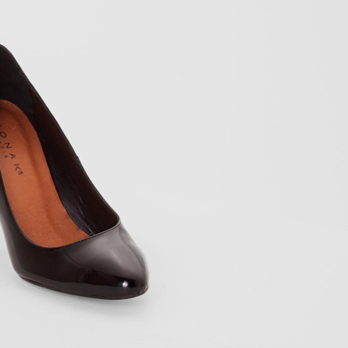 ТуфлиПодкладка: кожа   Стелька: кожа   Подошва: эластомер   Высота каблука: 7,5 см<br><br>Цвет: Черный лак<br>Размер: 37.38