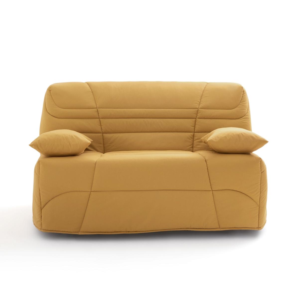 Чехол La Redoute Стеганый для дивана-книжки толщина см 90 x 190 см желтый матрас la redoute хлопчатобумажный с покрытием из латекса для дивана tha 90 x 190 см серый