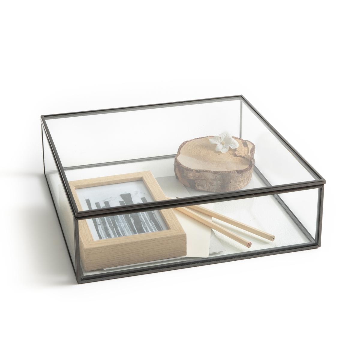 Коробка-витрина, Ш30 x В9 x Г30 см, DigoriКоробка Digori. Коробка для хранения и демонстрации украшений, драгоценностей и других ценных предметов.Характеристики:- Из стекла и металла с отделкой под латунь или оружейную сталь.- Очень качественная отделкаРазмеры:- Ш30 x В9 x Г30 см- Толщина стекла: 0,4 мм<br><br>Цвет: латунь,темно-серый металл
